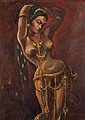 RADEN AGUS DJAYA (1913-1994) DANCER Signed & dated