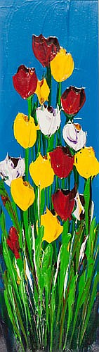 NICK ECONOMO , TULIPS, Signed lower right, Oil on