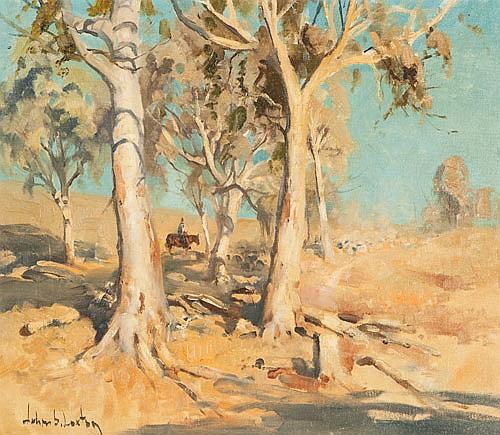 JOHN SAMUEL LOXTON (1903-1971), ROUNDING UP THE