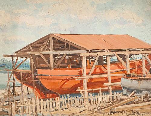 LIONEL HORNABROOKE JAGO (1882-1953), BOAT BUILDERS