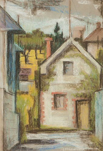 IRWIN CROWE  (1908-2003), WEST PERTH HOUSE, Pastel