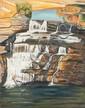 BARBARA CHAPMAN (B. 1945), WATERFALL BELL'S GORGE,