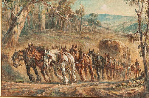 WILLIAM YOUNG (Working c.1906-1940), HAULING THE