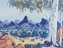 LINDBERG INKAMALA (1942-1980)  CENTRAL AUSTRALIAN LANDSCAPE  Signed lower right