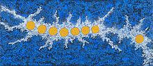 GABRIELLA POSSUM NUNGURRAYI (B.1967)  SEVEN SISTERS DREAMING  Artspeak Studio Gallery Certif