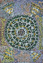 EUNICE NAPANGARDI (c.1950-2005)  BUSH BANANA DREAMING  Tanami Desert Art Certificate. Catalo