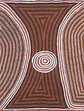 MICK NAMARARI TJAPALTJARRI (1926-1998)  TWO KANGAROO DREAMING AT MAMPI  Art of the Western D