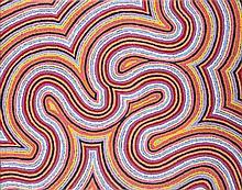 MICHELLE POSSUM NUNGURRAYI (B.1967)  WORM DREAMING  Western Desert Aboriginal Art Certificat