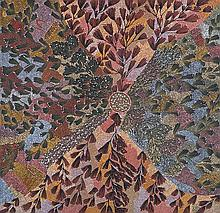 EUNICE NAPANGARDI (c.1950-2005)  UPARLI TJUKURRPA  (BUSH BANANA DREAMING)  Centre for Aborig