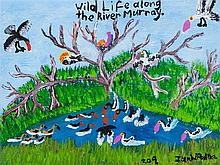 IAN WILLIAM ABDULLA (1947-2011)  WILD LIFE ALONG THE RIVER MURRAY  Signed lower right