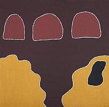 SANDRA SAMPI (B.1976)  THREE SISTERS DREAMING  Our Land Gallery Certificate