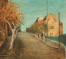 SALI HERMAN (1898-1993) AUTUMN IN VICTORIA STREET