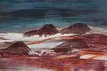 SIDNEY NOLAN (1917-1992) LANDSCAPE NEAR MENZIES