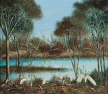 KEVIN CHARLES (PRO) HART (1928-2006) WATERBIRDS