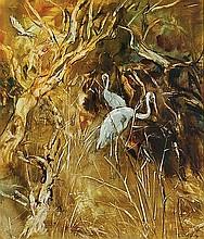WILLIAM BOISSEVAIN (B. 1927) WADING BIRDS Signed &