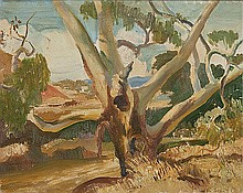 HARALD VIKE (1906-1987) RIVER GUM DRUMMOND CREEK