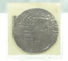 Nuestra Senora De Atocha 8 Reale Silver Shipwreck Coin in Plastic Sleeve W/Coin Card TSI#: 85A-217383 (25.8 Grams)