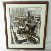 Vintage Framed Photograph of Jury Visiting Cocoanut Grove Nightclub Fire Scene March 1943