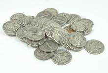 Lot of (50) Unsearched Mercury Dimes