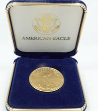 2005 $50 SOLID Gold American Eagle (1 Oz Solid Fine Gold Coin) In Original Box
