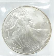 2007-P American Silver Eagle Slide Toning Around the Rim