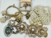 HUGE UNSEARCHED Lot of Vintage Jewelry. This bag is 100% GUARANTEED UNSEARCHED