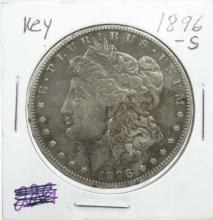 1896-S Morgan Silver Dollar *Key Date* W/Toning on Reverse