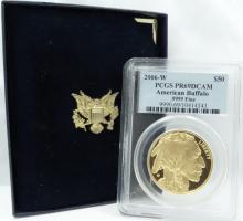 2006-W 1 Ounce .9999 Fine Gold $50 American Buffalo Proof in PCGS Slab Graded PR69DCAM (Comes W/Original Box & Papers)