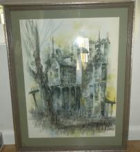 Lot of (2) Original Richard Benda Watercolor Paintings *Signed*