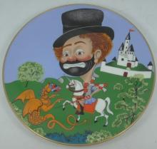 Lot of (3) Red Skelton Limited Edition Signed Collectors Plates From the 'Freddie's Adventures