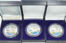Lot of (3) 2000 SOLID .999 Fine Silver 1 Ounce
