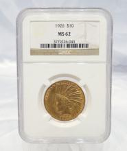 1926-P Indian Head $10 Gold Eagle MS62 in NGC Slab *Semi-Key Date*