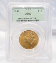 1932-P Indian Head $10 Gold Eagle MS62 in PCGS Slab