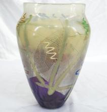 American Studio Art Glass Vase *Signed & Dated*