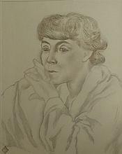 OLSOMMER Charles-Clos, 1883-1966 [CH]. - Portrait féminin,