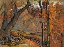 BIÉLER Ernest,  1863-1948 [CH]. - Automne en Valais,