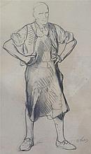 VAUTIER Benjamin (Marc Louis Benjamin), der Ältere,  1829-1898 [DE - CH]. - Homme au tablier,