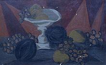DUBUIS Fernand,  1908-1991 [CH]. Nature morte aux fruits,  huile sur toile (45 x 72 cm).