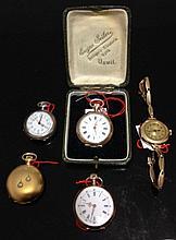 Petit lot d'horlogerie, début XXe s. (poids brut total env. 111. 7 g).