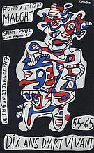 DUBUFFET Jean, 1901-1985 [FR]. Affiche d'expositio