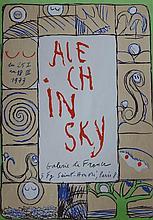 ALECHINSKY Pierre, *1927 [BE]. Affiche d'expositio