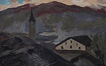 BIÉLER Ernest,  1863-1948 [CH]. Village et église