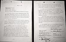 Contrat signé par Paul MacCartney pour la chanson