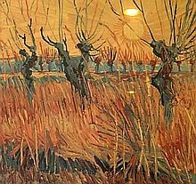 VAN GOGH Vincent,  1853-1890 [NL]. Paysage champêtre,