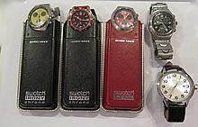 SWATCH. Cinq montres.