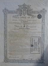 Lot de quatre documents officiels dont trois russes et un portugais.