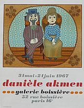 AKMEN Danièle, *1945 [MC]. Affiche d'exposition