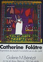 FOLÂTRE Catherine, *1955 [F]. Affiche d'exposition