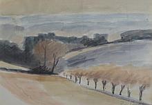 MONAY Pierre,  1896-1976 [CH]. Paysage campagnard,