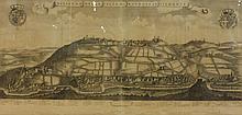 Carte ancienne représentant une vue de village dans la région du Piémont,